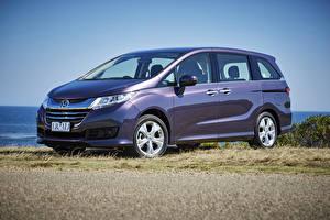Фотографии Honda Фиолетовых Металлик 2014-17 Odyssey VTi авто