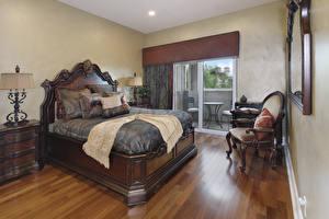 Фото Интерьер Дизайн Спальня Кровать Подушки Кресло