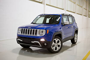 Фотографии Jeep Синяя Металлик 2017 Renegade Limited 4×4 Latam Машины