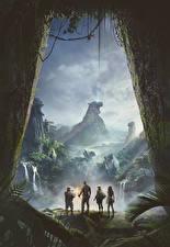 Обои Джуманджи: Зов джунглей Фантастический мир Дуэйн Джонсон Карен Гиллан Kevin Hart, Jack Black