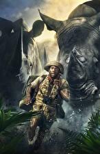 Фотографии Джуманджи: Зов джунглей Носороги Негр Бег Kevin Hart (Franklin Moose Finbar) Фильмы
