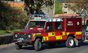 Фотографии Range Rover Пожарный автомобиль 2010 Defender High Volume Pump Support Vehicle Авто