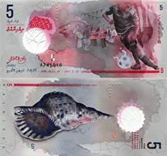 Обои Деньги Банкноты 5 Rufiyaa 2017 Maldives