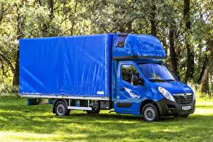 Картинки Opel Грузовики Металлик Синий 2010-17 Movano Cab Chassis