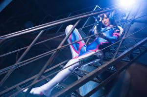 Фото Overwatch Косплей Лестница Игры Девушки