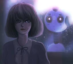 Обои Рисованные Робот Фантастика Девушки
