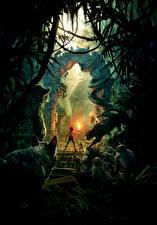 Фотография Пантеры Обезьяны Книга джунглей 2016 Мальчики Mowgli, Neel Sethi, Bagheera, Kaa