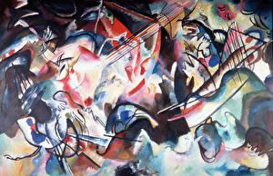 Картинки Живопись Абстракционизм Wassily Kandinsky, Composition VI