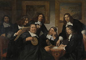 Картинка Картина Мужчины Jan de Bray, The Governors of the Haarlem Guild of St. Luke