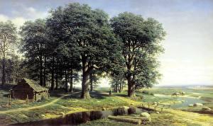 Фотография Живопись Дуб Деревья Mikhail Clodt Oak Grove