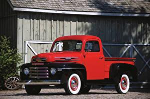 Картинки Ретро Красный Пикап кузов 1948–49 Mercury M47 Машины