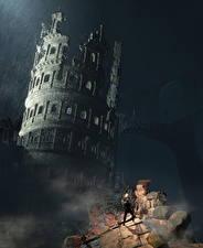 Фотографии Развалины Воины Dark Souls 3 Фэнтези