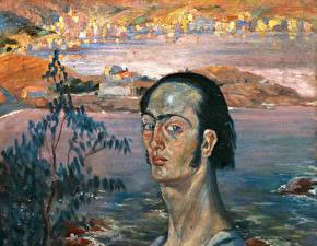 Фото Картина Salvador Dali Живопись Self-Portrait with Raphaelesque Neck