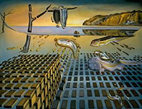 Картинка Картина Salvador Dali Живопись The Disintegration of the Persistence of Memory