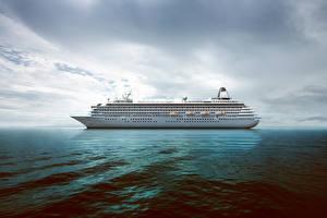 Картинка Море Корабли Круизный лайнер