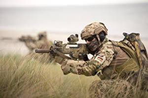 Фотография Солдаты Автоматы Немецкий German Navy Special Forces Command (Kommando Spezialkräfte der Marine, KSM) Армия