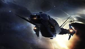 Фотографии Star Citizen Звездолёт Игры Фэнтези Космос