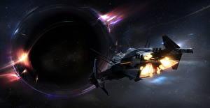 Фотографии Star Citizen Звездолёт Планеты Игры Фэнтези Космос