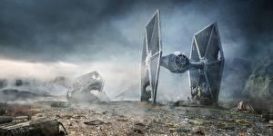 Картинки Звездные войны C-3PO, Star Wars, Rebel Droids, Lee Rouse, TIE fighter, R2-D2 Фэнтези