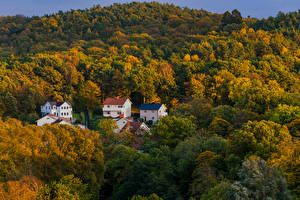 Обои Швеция Осень Дома Gothenburg Природа картинки