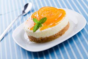 Картинки Сладости Пирожное Желе Тарелка Еда