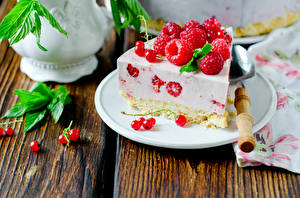 Фото Сладости Пирожное Малина Смородина Десерт Тарелка Пища