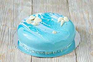 Фотографии Сладости Торты Дизайн Голубой Еда