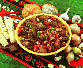 Картинки Вторые блюда Мясные продукты Сыры Лук репчатый Чеснок