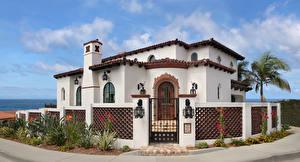 Картинки США Дома Калифорния Особняк Дизайн Забор La Jolla