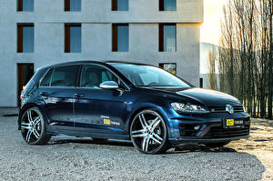 Фото Volkswagen Синие Металлик 2016 OCT Tuning Golf R Авто
