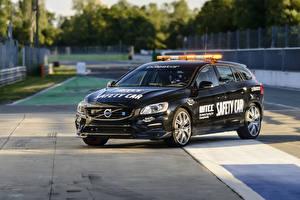 Картинки Вольво Стайлинг Черный 2016-17 V60 Polestar WTCC Safety Car