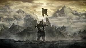 Картинка Воины Фантастический мир Dark Souls 3 Доспехи Игры Фэнтези