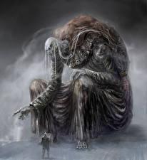 Картинки Воины Гигант Dark Souls 3 Игры Фэнтези