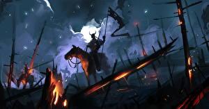 Фотография Воины Лошади Ночные Фантастика