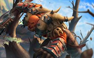 Фото World of WarCraft Воин Орки Кричит Garrosh Игры Фэнтези