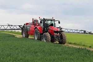 Картинка Сельскохозяйственная техника Поля Трактор 2015-17 Massey Ferguson 7718 Worldwide