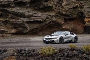 Обои BMW Серый Металлик Купе 2018 i8 Автомобили картинки