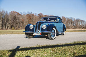 Обои BMW Ретро Голубых Металлик 1937-41 327 Cabriolet машина