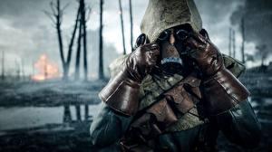 Фото Battlefield 1 Перчатки Противогаз Игры 3D_Графика