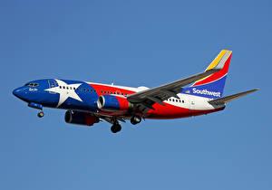 Фотография Самолеты Boeing Пассажирские Самолеты Летящий 737