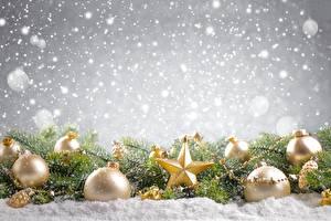 Фото Рождество Шар Звездочки Снежинки