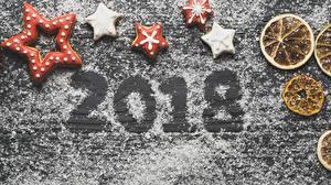 Обои Новый год Печенье 2018 Звездочки Автомобили картинки