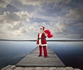 Картинки Рождество Пирсы Санта-Клаус Униформа