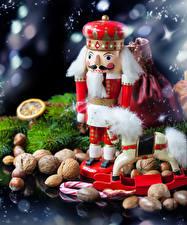 Картинки Рождество Орехи Санта-Клаус