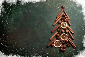 Фотография Корица Рождество Бадьян звезда аниса Новогодняя ёлка