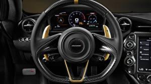 Фотография Крупным планом McLaren Автомобильный руль Limited Edition Grey Gold 720S Автомобили