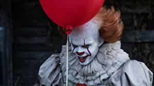 Картинка Клоун Ужасные Bill Skarsgård 2017 It, Pennywise Кино