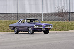 Картинки Додж Винтаж Фиолетовый Металлик 1970 Dodge Coronet Super Bee Coupe Авто