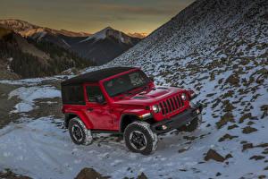Фотография Jeep Красных Металлик 2018 Wrangler Rubicon Автомобили