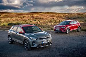 Обои Киа Два 2017 Stonic Автомобили